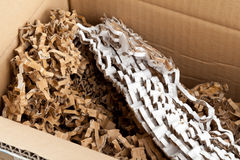 Recycled corrugated cardboard in box Royalty Free Stock Image