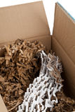 Recycled corrugated cardboard in box Stock Photo