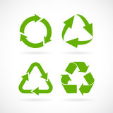 Recycled cycle arrow vector icon. Recycled cycle arrows vector icons set royalty free illustration