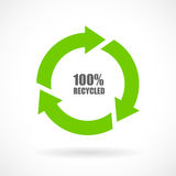 Recycled cycle sign Royalty Free Stock Photography