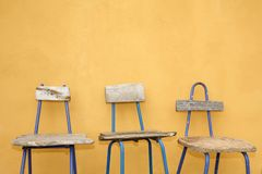 Recycled Design Chairs Stock Images