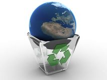 Recycled  earth Royalty Free Stock Image