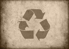 Recycled eco paper background Royalty Free Stock Photos