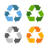 Recycled eco vector icon Stock Photography