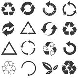 Recycled eco vector icon set Royalty Free Stock Image