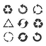 Recycled eco vector icon set Royalty Free Stock Images