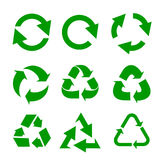 Recycled eco vector icon set. Vector illustration Royalty Free Stock Image
