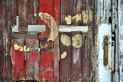 Recycled fence or door Royalty Free Stock Image