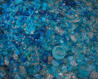 Recycled glass to melt for making hand blown objects Stock Images