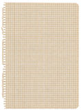 Recycled graph paper Stock Image
