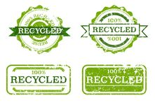 Recycled grunge stamps Stock Images