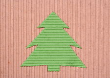 Recycled Handmade Christmas-tree Royalty Free Stock Photos