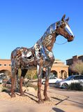 USA, Arizona/Fountain Hills - Scrap Metal Art or: Recycled Horse Royalty Free Stock Photo