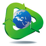 Recycled icon Stock Photography