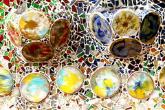 Recycled material for Gaudi houses Stock Photos