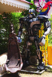 Recycled metal steel Robots model theme park at Hua Hin Tique animal show Royalty Free Stock Images