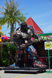 Recycled metal steel Robots theme park at Hua Hin Tique animal show : Iron Patriot model Royalty Free Stock Photo