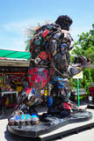Recycled metal steel Robots theme park at Hua Hin Tique animal show : Iron Patriot model Royalty Free Stock Photography