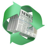 Recycled newspaper Stock Photo