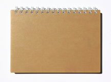 Recycled notebook. On white background Royalty Free Stock Photos