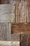Recycled old brown square wood texture. Background Stock Photos