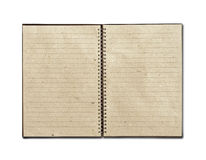 Recycled open notebook Royalty Free Stock Image