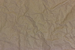 Recycled paper. New brown crumpled royalty free stock images