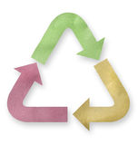 Recycled paper arrows. Stock Photos