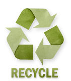 Recycled paper arrows. Recycled paper arrows on white background royalty free illustration