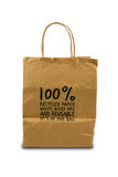 Recycled paper bag Stock Images