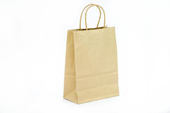 Recycled paper bag Stock Photos