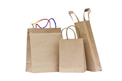 Recycled paper bags. Royalty Free Stock Photo