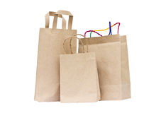 Recycled paper bags. Stock Photo