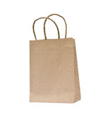 Recycled paper bags. Stock Photos