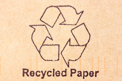 Recycled paper Royalty Free Stock Images