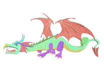 Recycled paper craft stick   dragon Stock Photography