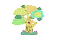 Recycled paper craft stick tree Royalty Free Stock Photo