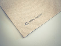 Recycled paper detail Royalty Free Stock Photography