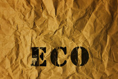 Recycled paper with Eco text Royalty Free Stock Photo