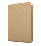 Recycled Paper Folder. Clipping path included for easy selection Stock Photo