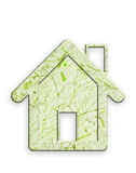 Recycled paper house. Stock Photo