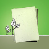 Recycled paper & leaves Stock Image