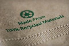 Recycled paper napkin Stock Image