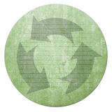 Recycled paper note. Craft stick on vintage paper Royalty Free Stock Photo