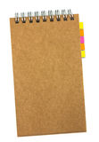 Recycled paper notebook stock image