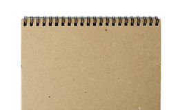 Recycled paper notebook Stock Photo