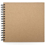 Recycled paper notebook front cover Royalty Free Stock Photos