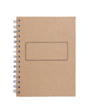 Recycled paper notebook front cover Royalty Free Stock Photography