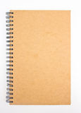 Recycled paper notebook. Recycled paper notebook front cover Royalty Free Stock Photos