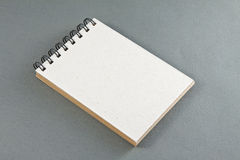 Recycled paper notebook front cover Royalty Free Stock Photo